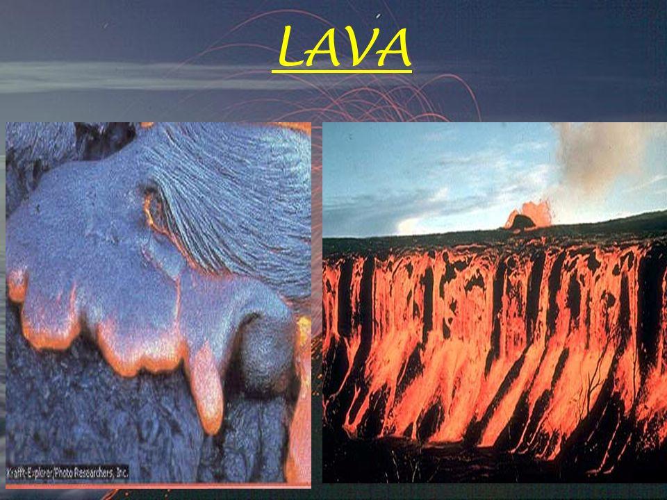 Erupções que ocorrem à superfície Erupções que ocorrem nos fundos marinhos.