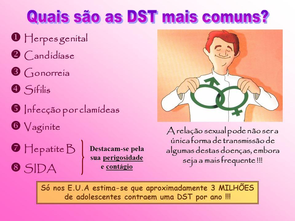 As DST são doenças que são transmitidas através de relações sexuais não protegidas, estando um dos parceiros contaminado. Há algum tempo atrás as DST