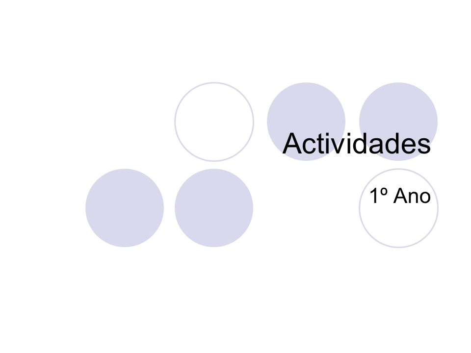Actividades 1º Ano
