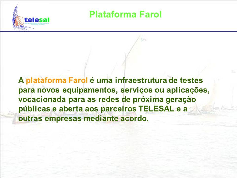 Plataforma Farol Caracterização das redes de próxima geração Convergência PSTN, rede de dados (internet) e rede sem fios.