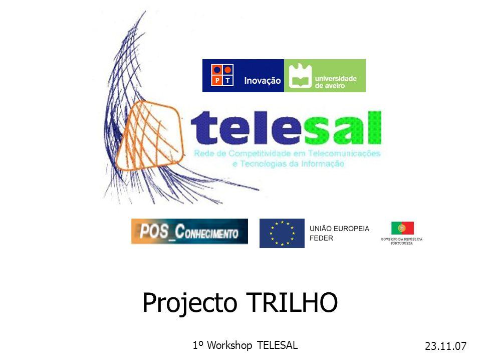 23.11.07 1º Workshop TELESAL Projecto TRILHO