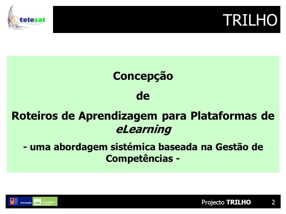 2 TRILHO Concepção de Roteiros de Aprendizagem para Plataformas de eLearning - uma abordagem sistémica baseada na Gestão de Competências -