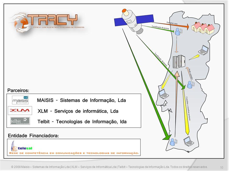 10 © 2008 Maisis – Sistemas de Informação Lda | XLM – Serviços de Informática Lda | Telbit – Tecnologias de Informação Lda. Todos os direitos reservad