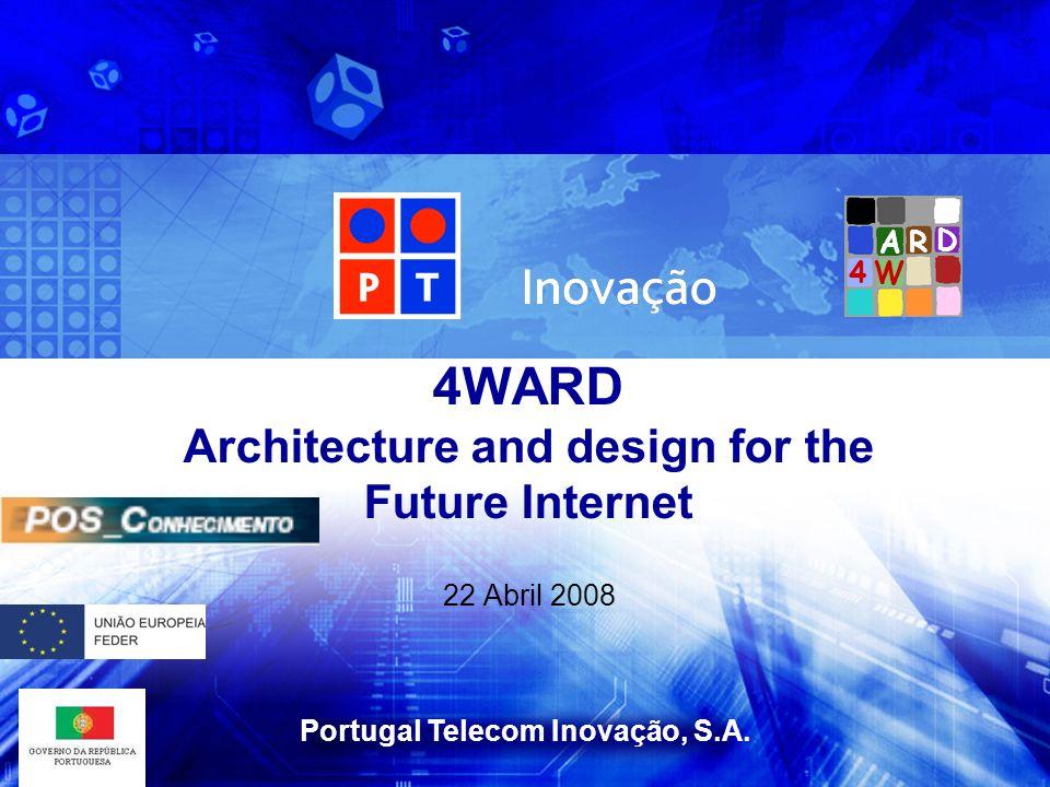 Portugal Telecom Inovação, S.A. 22 Abril 2008 4WARD Architecture and design for the Future Internet W A D R 4
