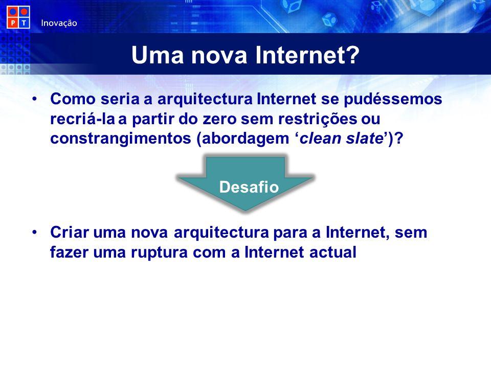 Uma nova Internet? Como seria a arquitectura Internet se pudéssemos recriá-la a partir do zero sem restrições ou constrangimentos (abordagem clean sla