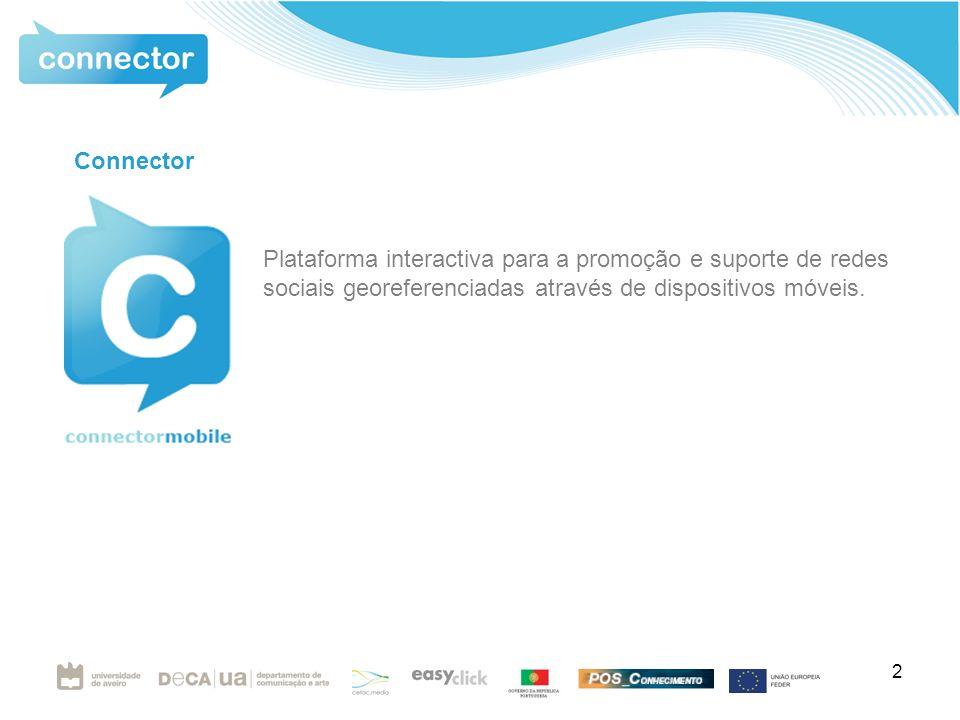 2 Connector Plataforma interactiva para a promoção e suporte de redes sociais georeferenciadas através de dispositivos móveis.