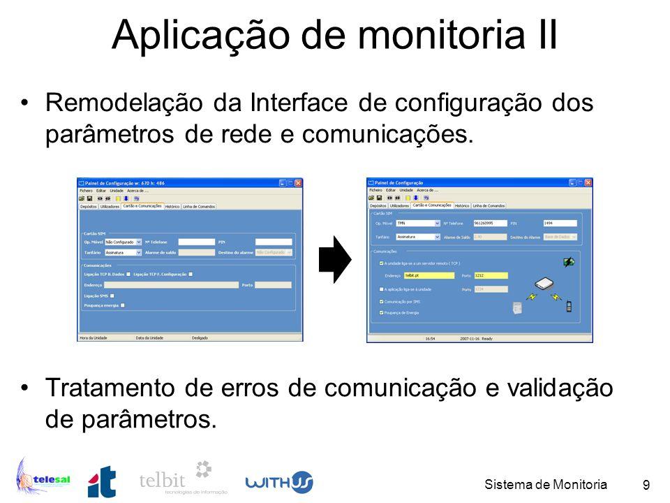 Sistema de Monitoria 10 Biblioteca de comunicações Protocolo de comunicação RS232.