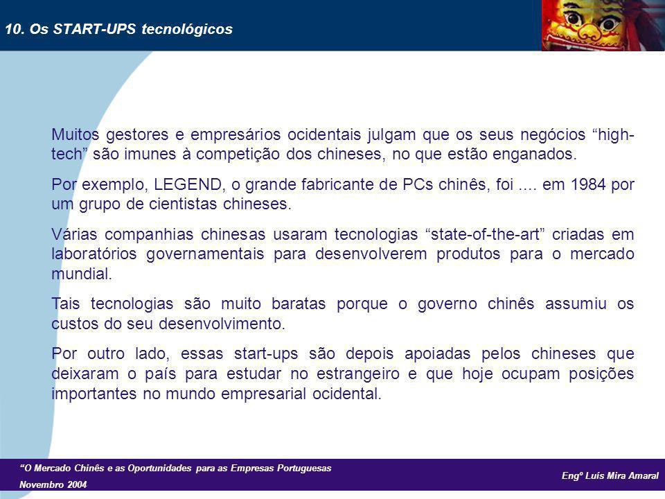 Engº Luís Mira Amaral O Mercado Chinês e as Oportunidades para as Empresas Portuguesas Novembro 2004 Muitos gestores e empresários ocidentais julgam q