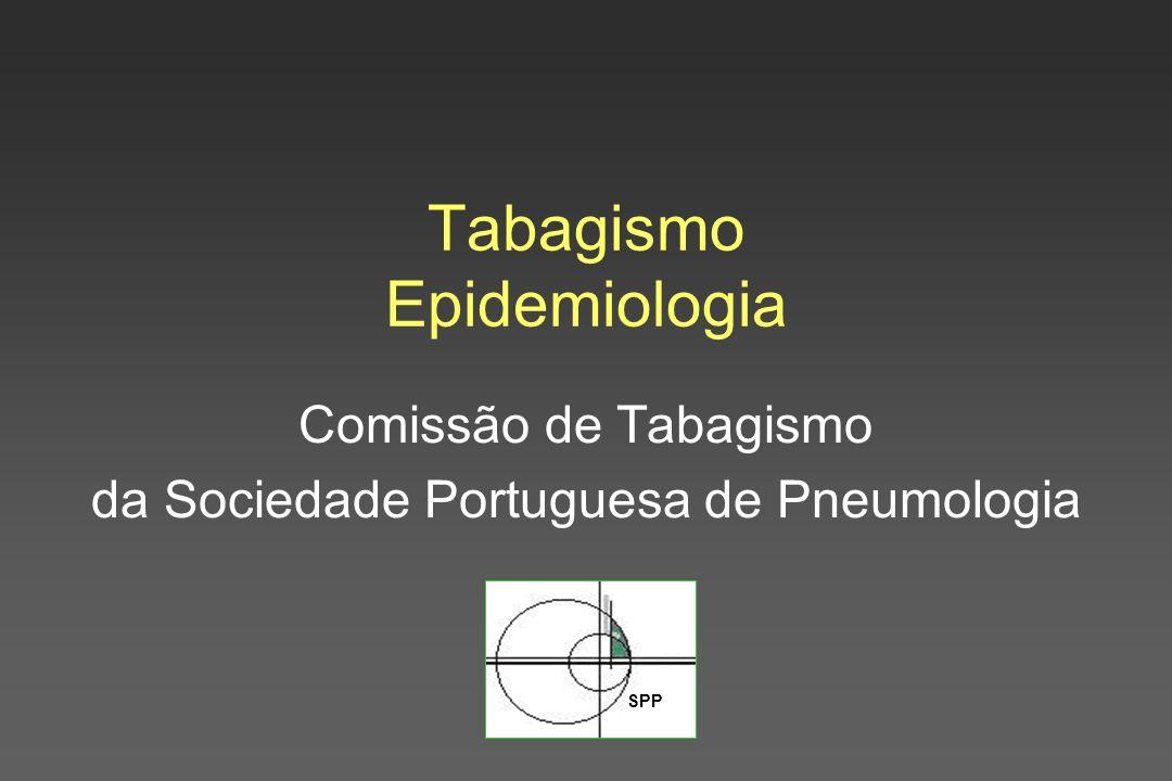 SPP Tabagismo Epidemiologia Comissão de Tabagismo da Sociedade Portuguesa de Pneumologia