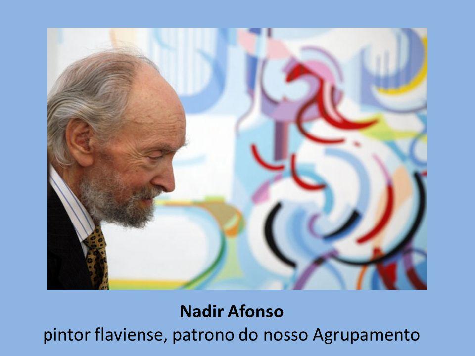 Nadir Afonso pintor flaviense, patrono do nosso Agrupamento