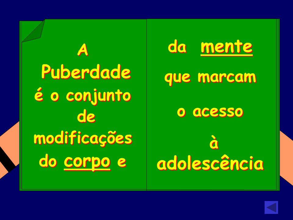 da mente que marcam o acesso à adolescência da mente que marcam o acesso à adolescência A Puberdade é o conjunto de modificações do corpo e A Puberdad
