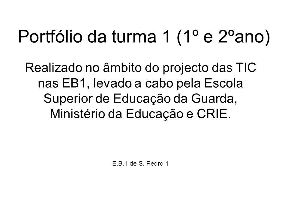 Portfólio da turma 1 (1º e 2ºano) Realizado no âmbito do projecto das TIC nas EB1, levado a cabo pela Escola Superior de Educação da Guarda, Ministéri