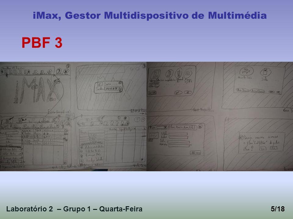 Laboratório 2 – Grupo 1 – Quarta-Feira5/18 iMax, Gestor Multidispositivo de Multimédia PBF 3