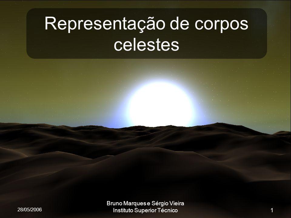 28/05/2006 Bruno Marques e Sérgio Vieira Instituto Superior Técnico1 Representação de corpos celestes