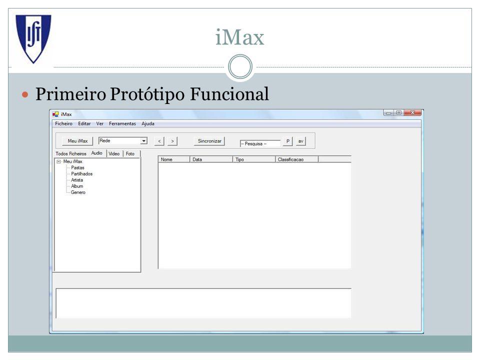 iMax Primeiro Protótipo Funcional