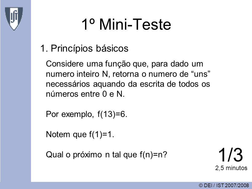 1º Mini-Teste 1.
