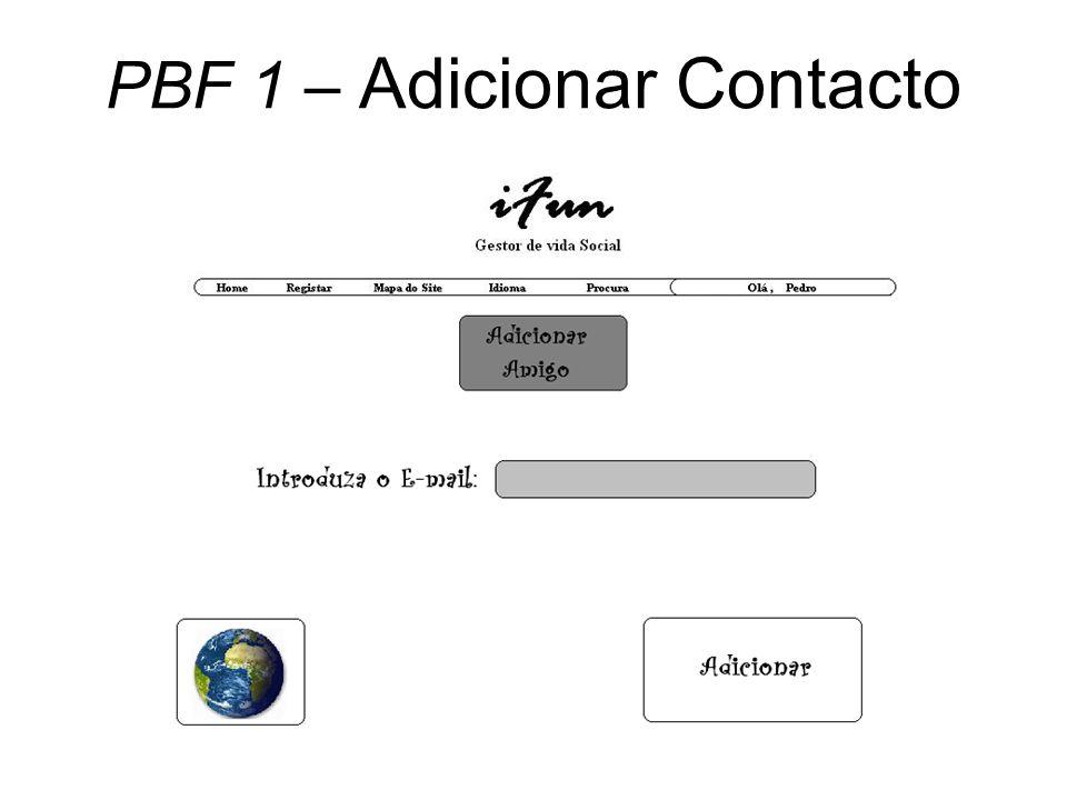 PBF 1 – Adicionar Contacto