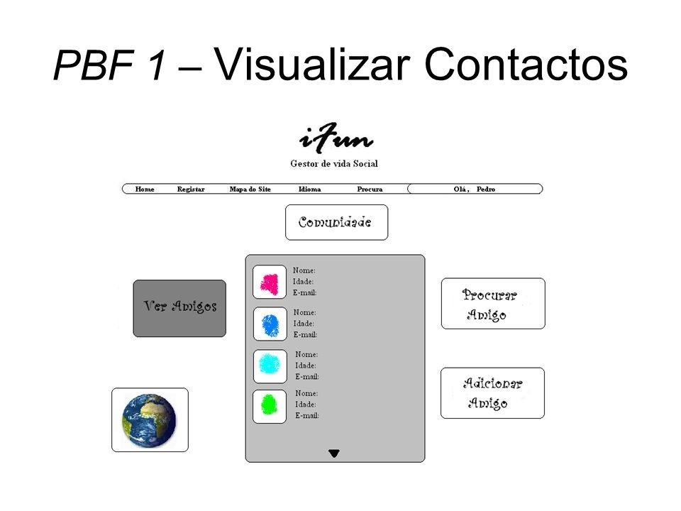 PBF 1 – Visualizar Contactos