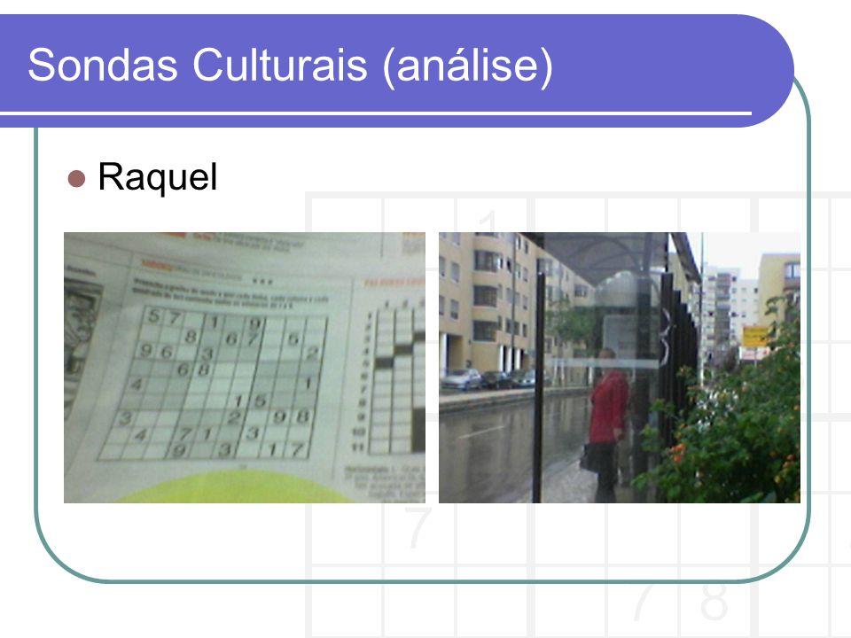 Sondas Culturais (análise)