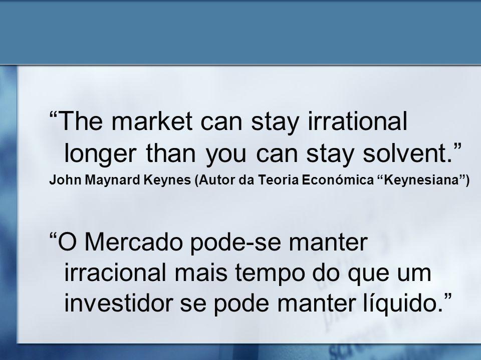 The market can stay irrational longer than you can stay solvent. John Maynard Keynes (Autor da Teoria Económica Keynesiana) O Mercado pode-se manter i