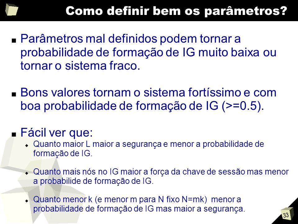 33 Como definir bem os parâmetros.