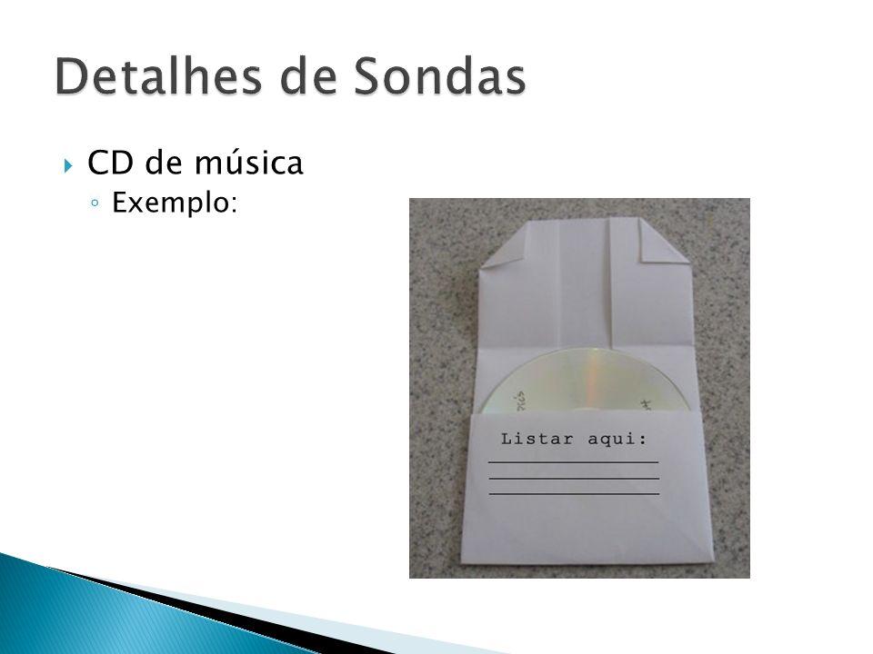 CD de música Exemplo: