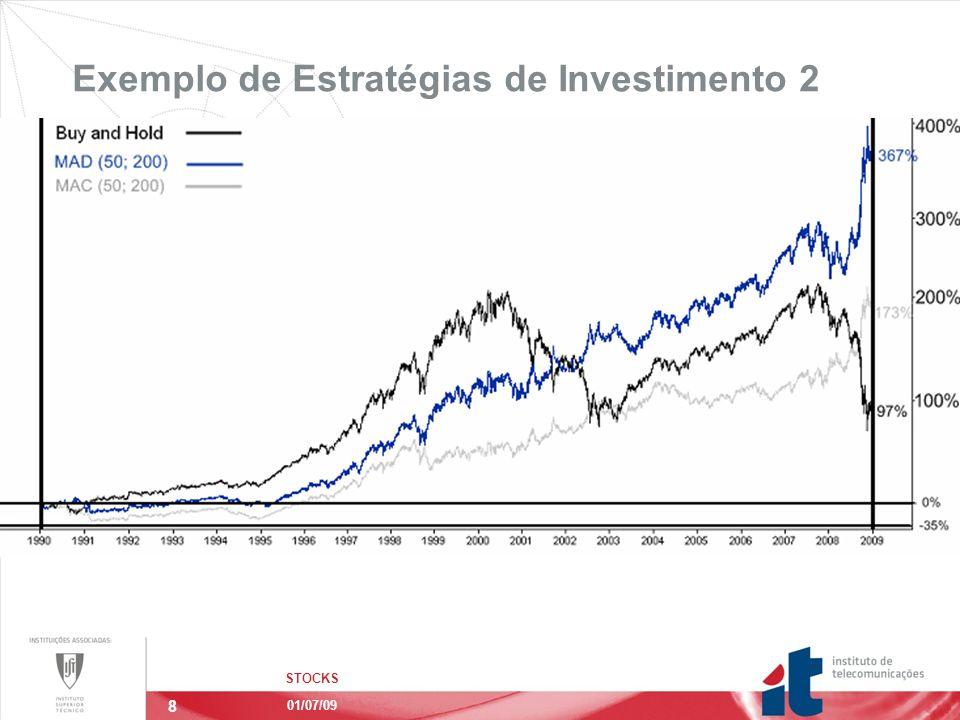 8 Exemplo de Estratégias de Investimento 2 STOCKS 01/07/09