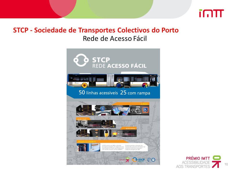 10 STCP - Sociedade de Transportes Colectivos do Porto Rede de Acesso Fácil