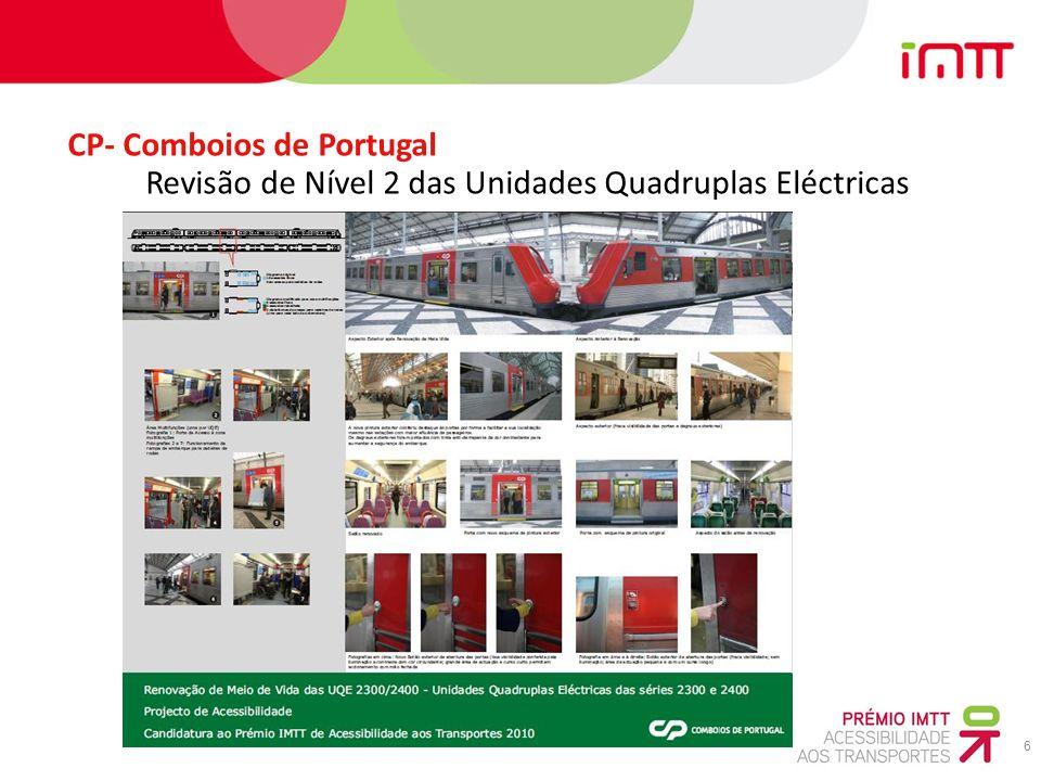 6 CP- Comboios de Portugal Revisão de Nível 2 das Unidades Quadruplas Eléctricas