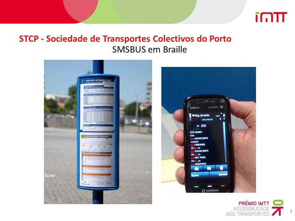 9 STCP - Sociedade de Transportes Colectivos do Porto SMSBUS em Braille