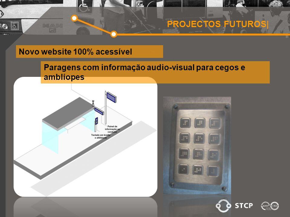 PROJECTOS FUTUROS| Novo website 100% acessível Paragens com informação audio-visual para cegos e amblíopes