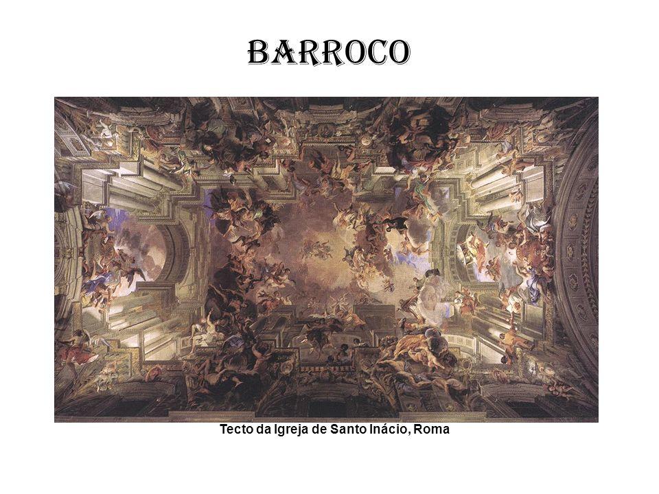 Barroco O Barroco liga-se ao espírito da Contra Reforma procurando glorificar a Igreja e exaltar a devoção dos crentes.