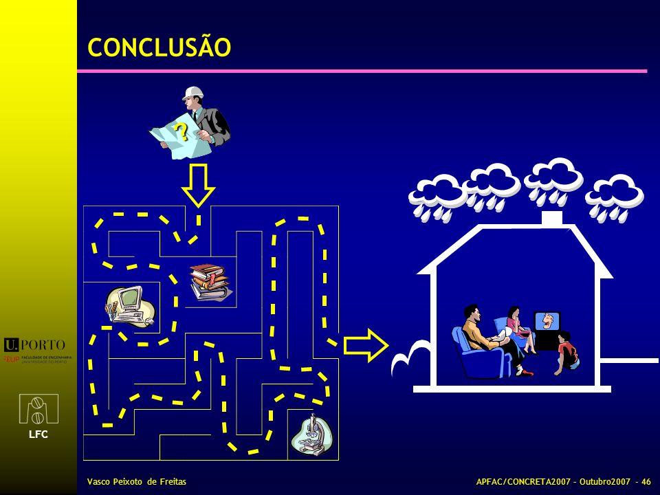 LFC Vasco Peixoto de FreitasAPFAC/CONCRETA2007 – Outubro2007 - 46 CONCLUSÃO ?