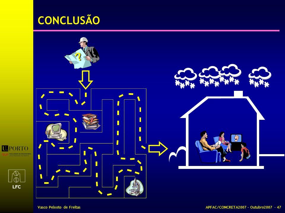 LFC Vasco Peixoto de FreitasAPFAC/CONCRETA2007 – Outubro2007 - 47 CONCLUSÃO ?
