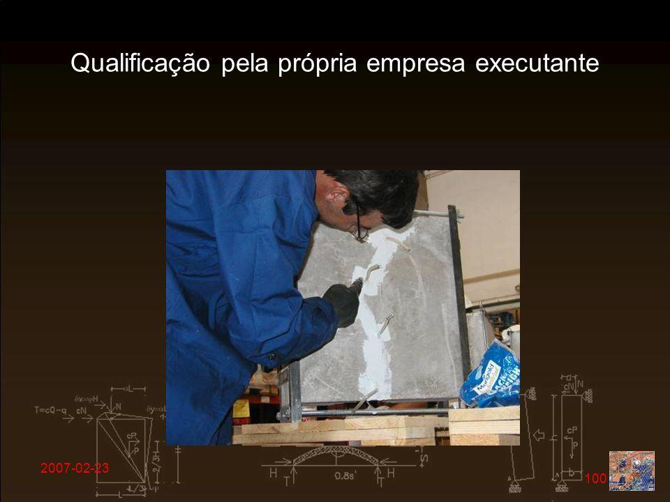 2007-02-23 100 Qualificação pela própria empresa executante