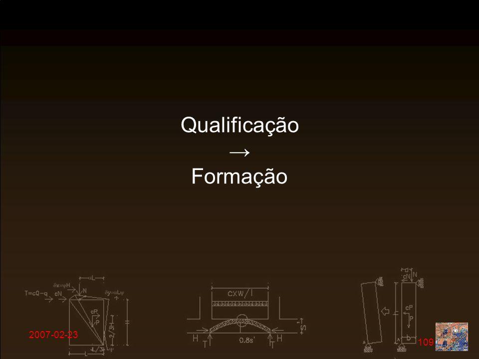 2007-02-23 109 Qualificação Formação