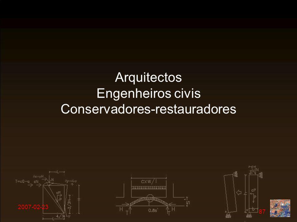 2007-02-23 87 Arquitectos Engenheiros civis Conservadores-restauradores