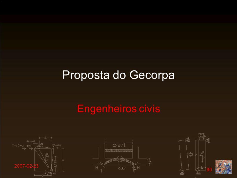 2007-02-23 90 Proposta do Gecorpa Engenheiros civis