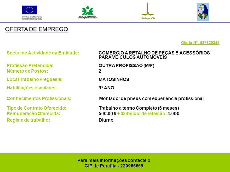 GIP de Perafita - 229965665 Para mais informações contacte o GIP de Perafita - 229965665 OFERTA DE EMPREGO Oferta Nº: 587820146 Sector de Actividade da Entidade: FABRICAÇÃO DE OUTRAS MÁQUINAS DIVERSAS PARA USO ESPECÍFICO Profissão Pretendida: OUTRA PROFISSÃO (M/F) Número de Postos: 1 Local Trabalho Freguesia: PERAFITA Habilitações escolares: BACHARELATO Conhecimentos Profissionais: Licenciado na área da Engenharia química para o sector de galvanoplastia.