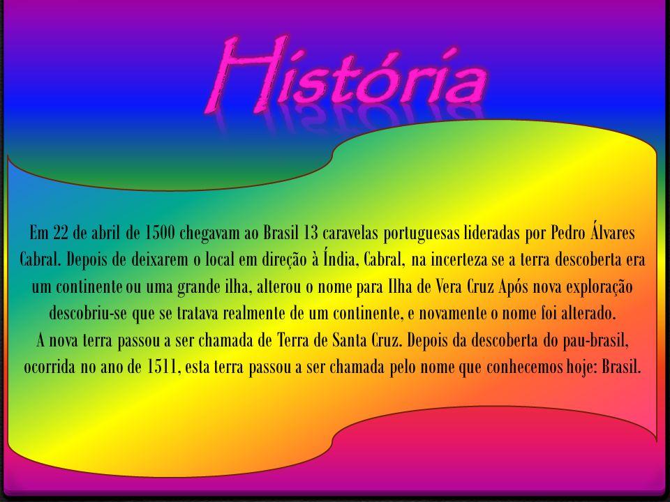 Em 22 de abril de 1500 chegavam ao Brasil 13 caravelas portuguesas lideradas por Pedro Álvares Cabral. Depois de deixarem o local em direção à Índia,