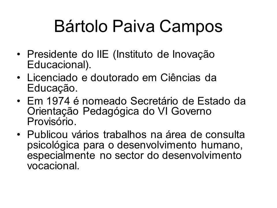 A Investigação Educacional em Portugal Bártolo Paiva Campos