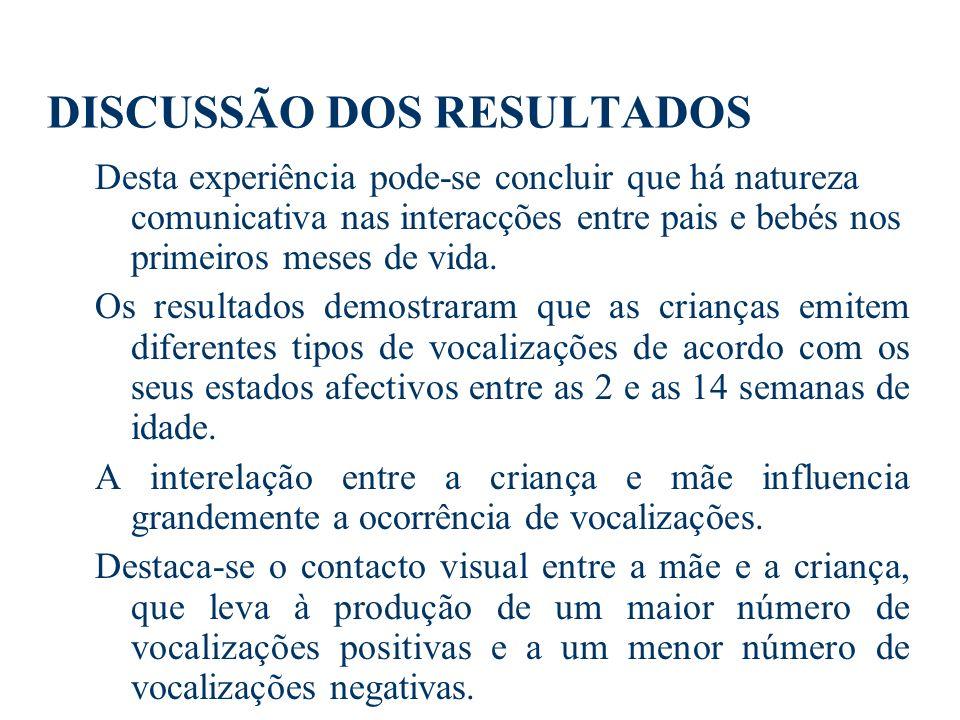 IV. DISCUSSÃO DOS RESULTADOS