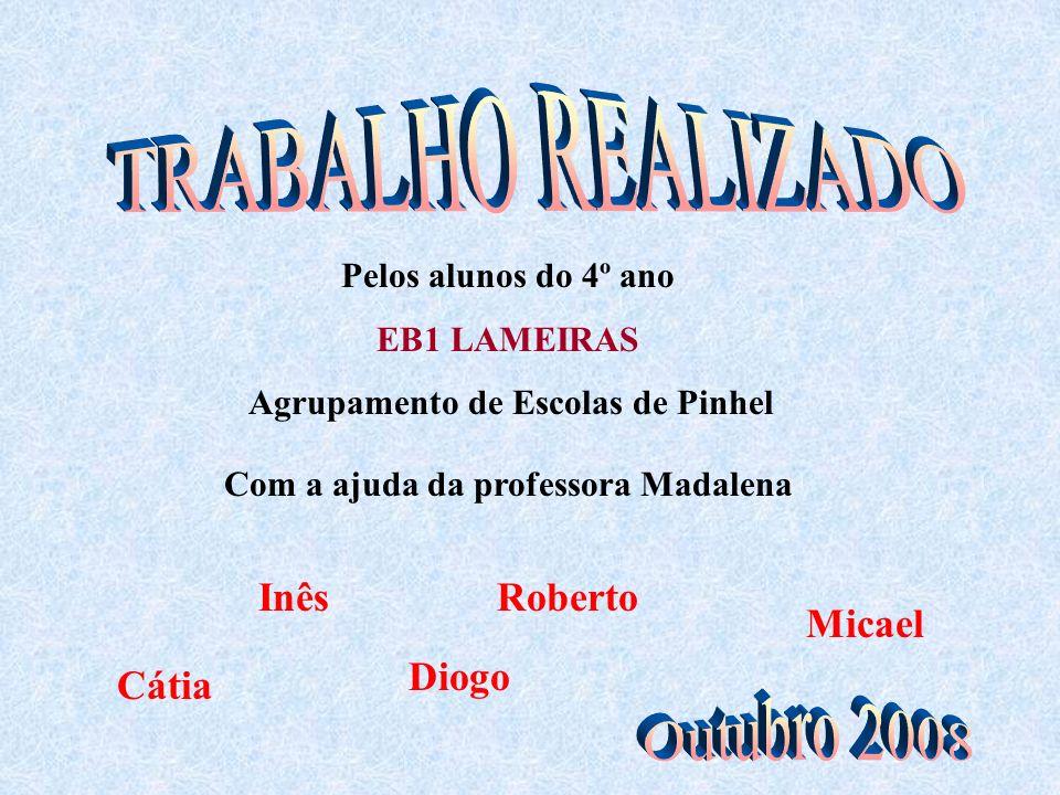 Pelos alunos do 4º ano EB1 LAMEIRAS Agrupamento de Escolas de Pinhel Com a ajuda da professora Madalena Roberto Micael Diogo Inês Cátia