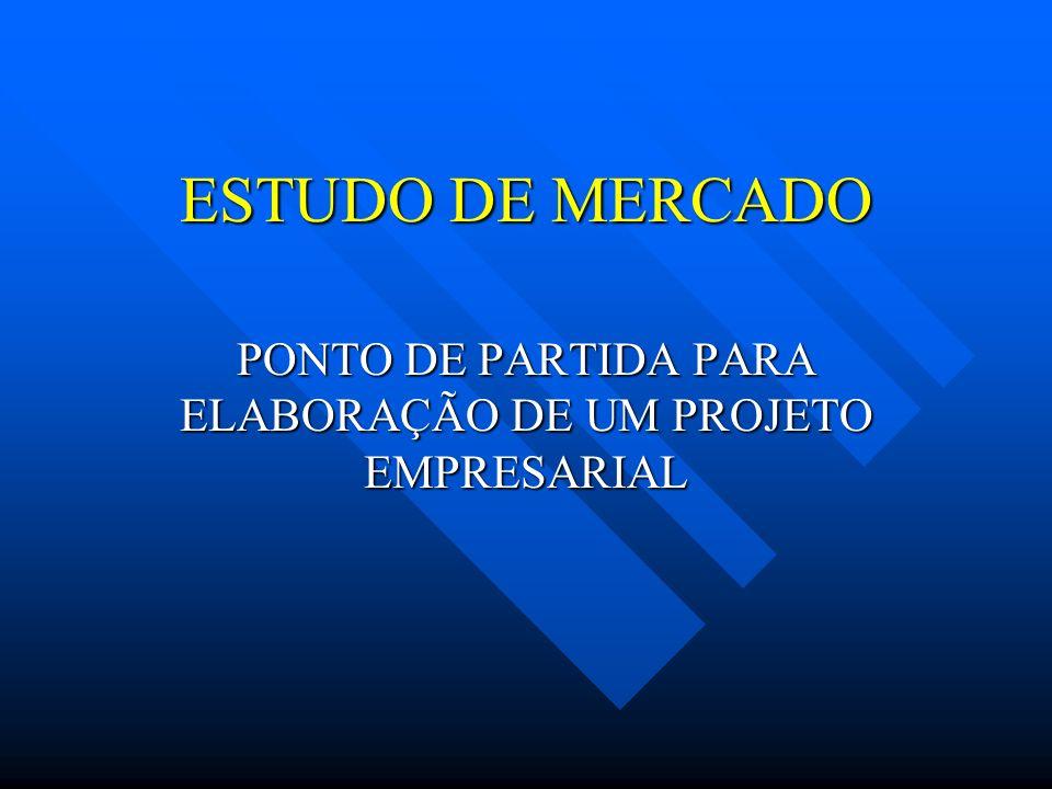 ESTUDO DE MERCADO PONTO DE PARTIDA PARA ELABORAÇÃO DE UM PROJETO EMPRESARIAL