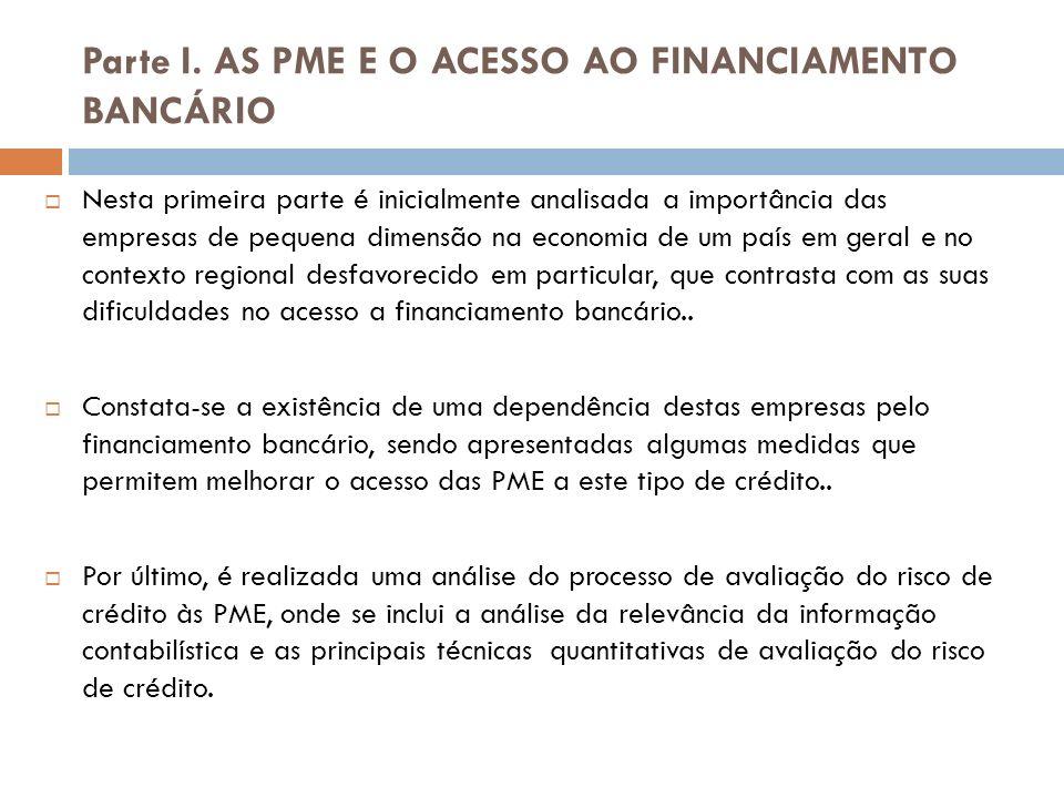 Conclusão Contrastando com as limitações apontadas no acesso ao crédito, constata-se que são as MPE e PME que registam um papel importante na sustentação económica das regiões em que se inserem, em particular as desfavorecidas, ao permitirem uma descentralização da criação de emprego e de riqueza.