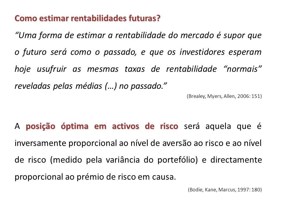 Como estimar rentabilidades futuras.
