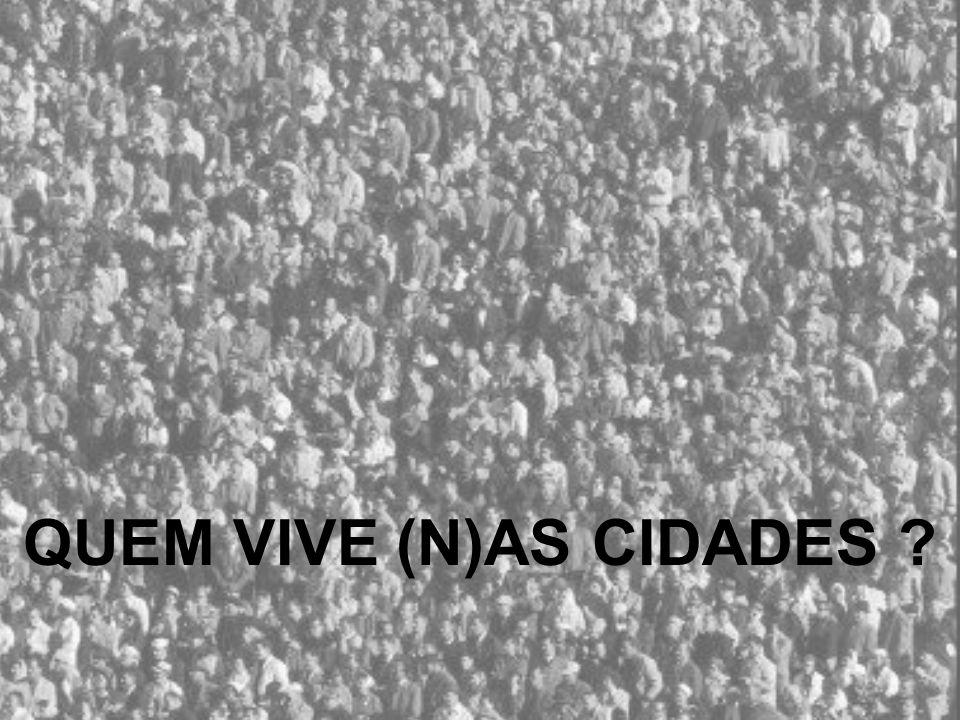 População Urbana em Portugal Fonte: ONU – Prospectivas de Urbanização no Mundo QUEM VIVE (N)AS CIDADES