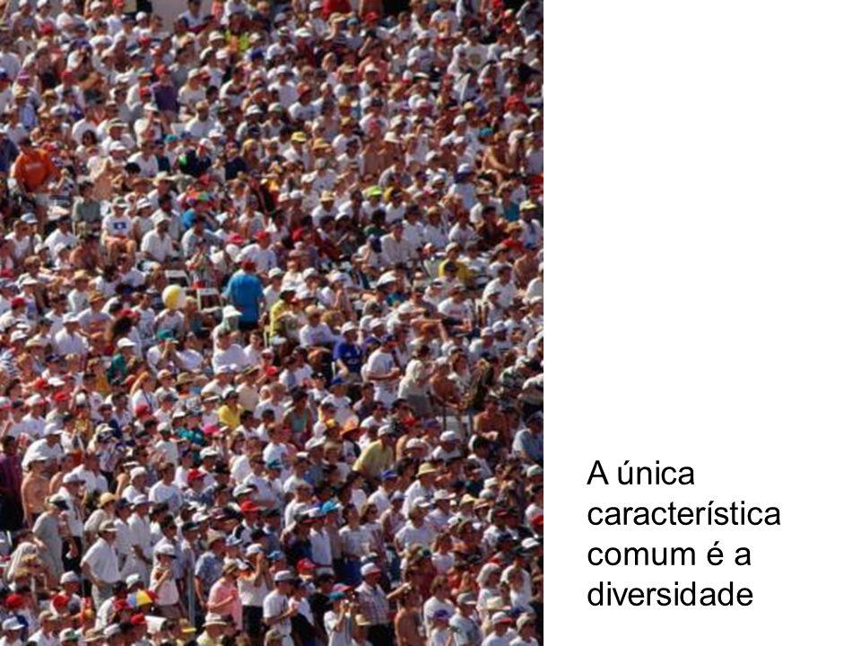 A única característica comum é a diversidade
