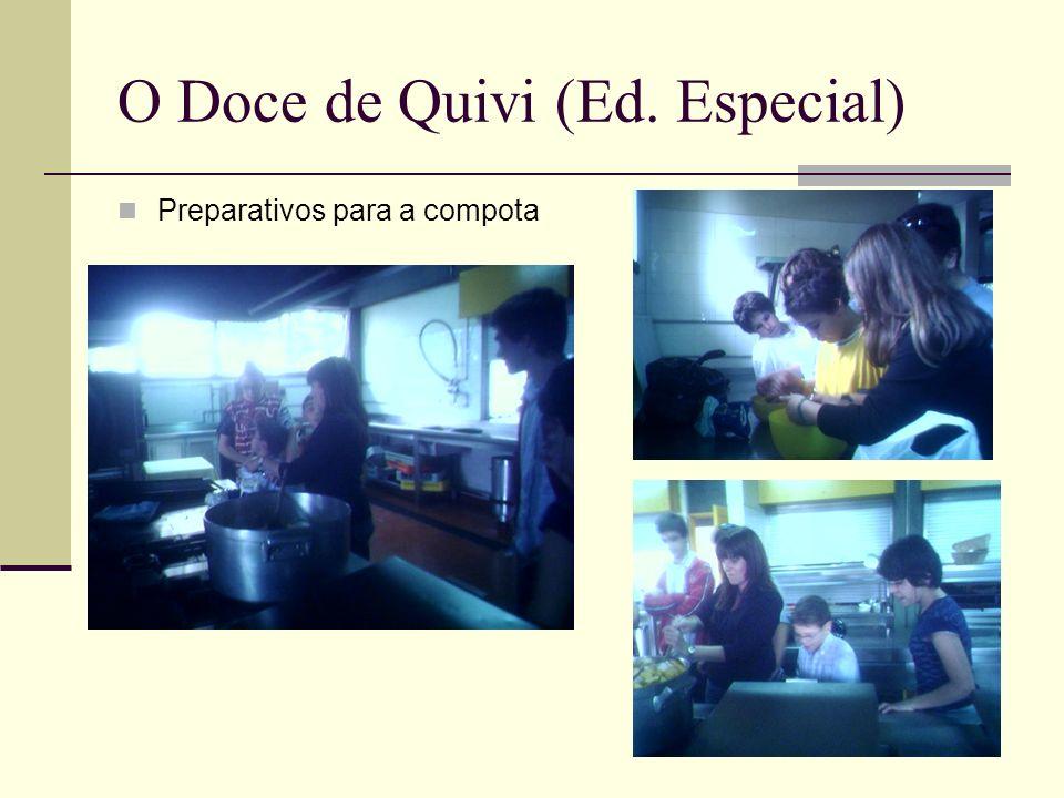 O Doce de Quivi (Ed. Especial) Preparativos para a compota