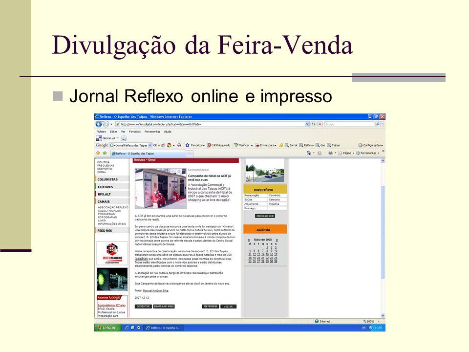 Divulgação da Feira-Venda Jornal Reflexo online e impresso